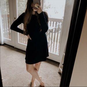 GAP Ribbed Long Sleeve Sweater Babydoll Dress